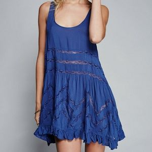 Free Peaple Voile and Lace Trapeze Slip  Top